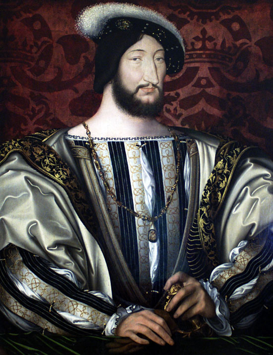Portrait of Francis I, Jean Clouet