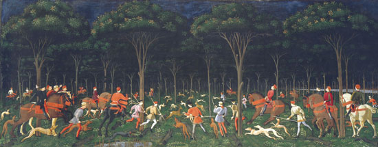 Hunt in the Forest, Uccello