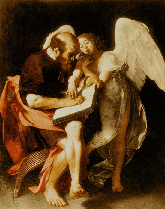 Caravaggio, St. Matthew writing his gospel