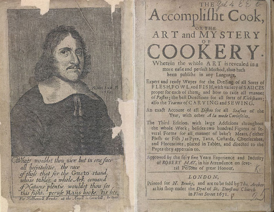 Seventeenth Century English Cookbook frontispiece