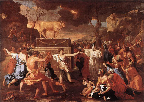 Poussin, Adoration of the Golden Calf