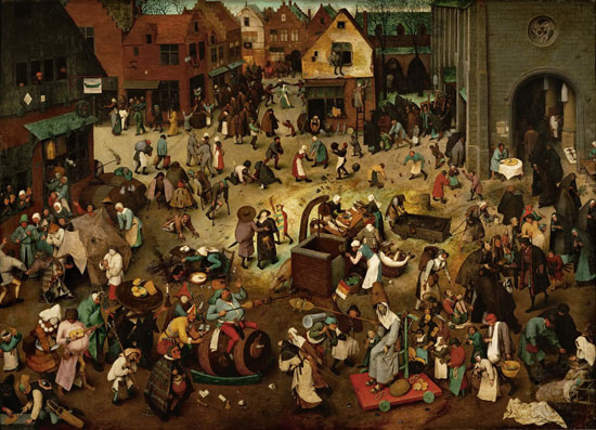 The Battle of Carnival and Lent, Pieter Bruegel