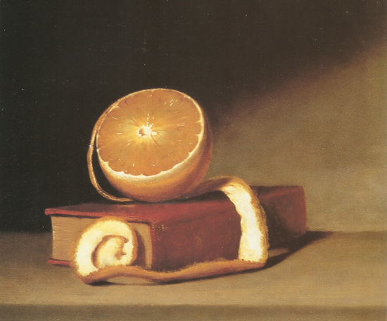 Still life with orange, Raphaelle Peale
