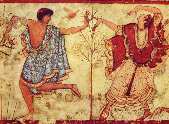 Etruscan tomb painting