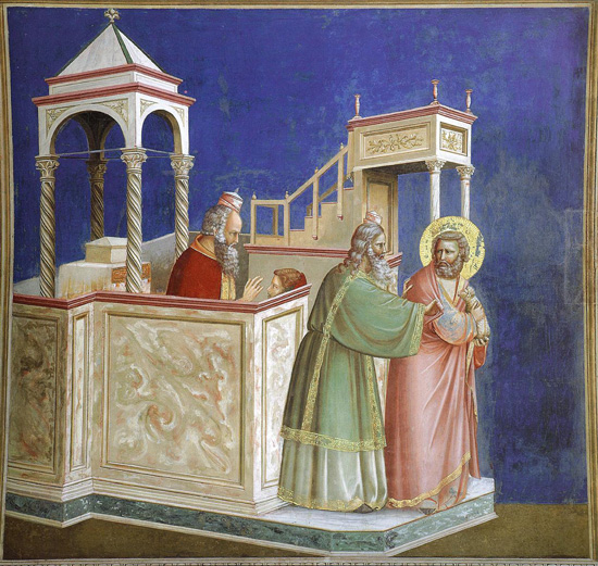 Giotto, Expulsion of Joachim from the Temple