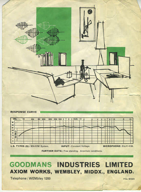 Goodmans speakers publicity brochure