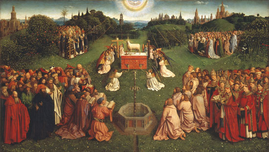 Het Lam Gots, Jan van Eyck, central panel