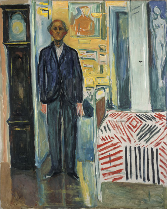 Edvard Munch, Self-Portrait, Between the Clock and the Bed