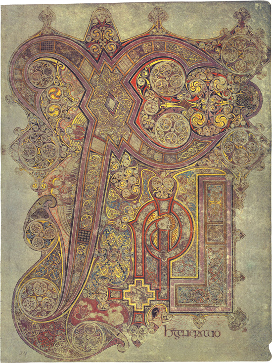 Chi-Rho page, Book of Kells