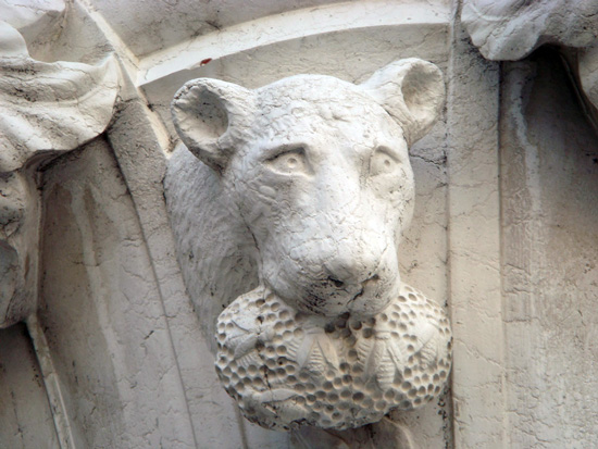 Capital on the Palazzo Ducale—feline