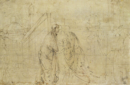 Study for The Visitation, Ghirlandaio