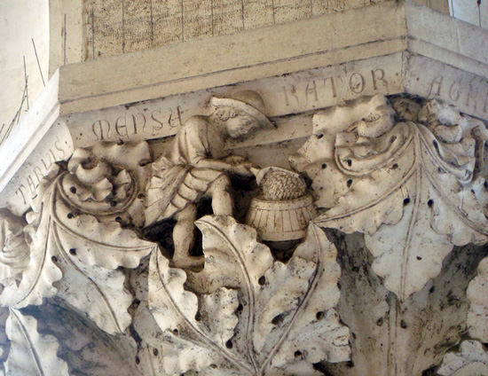 Capital on the Palazzo Ducale—Measurer