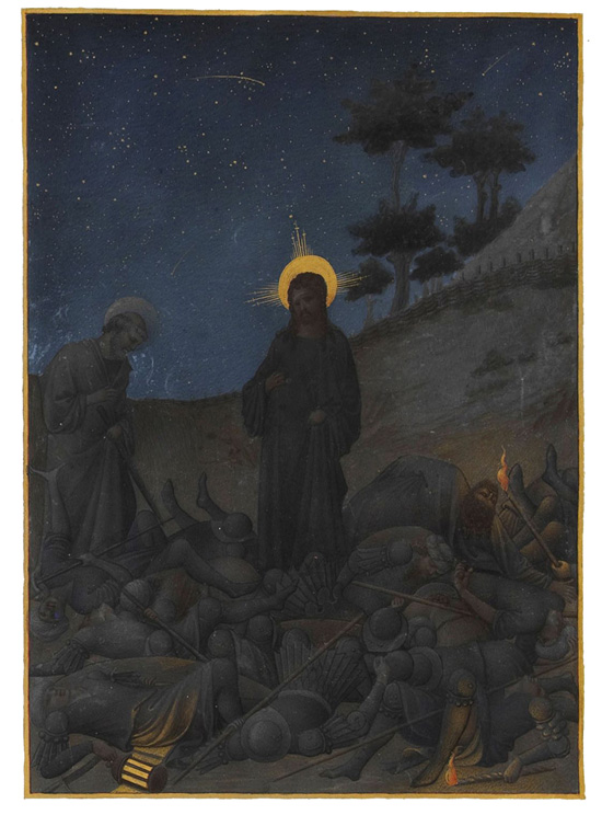 Christ in Gethsemene, Limbourg Brothers