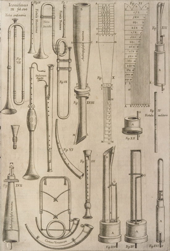 Collection of Renaissance instruments