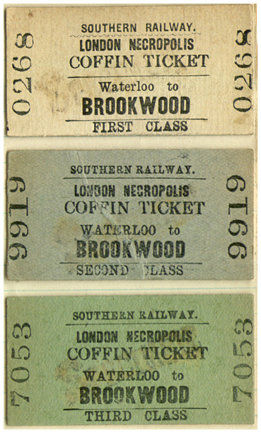 London Necropolis railway ticket