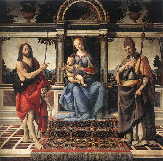 Madonna and Child with Saints John the Baptist and Donatus, Andrea del Verrocchio