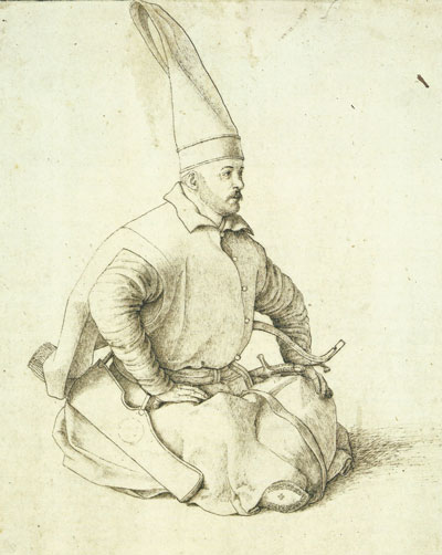 A Turkish Janissary, Gentile Bellini