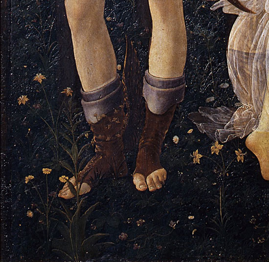 Mercury's feet, Primavera, Botticelli