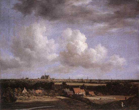 Landscape with a view of Haarlem, Jacob van Ruisdael