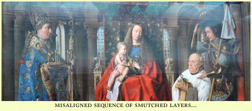 sequence of smutched layers