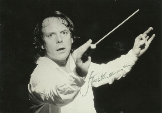 Signed picture of Karlheinz Stockhausen