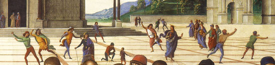 Delivery of the Keys, Pietro Perugino (detail)