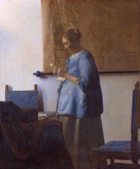 Jan Vermeer, Woman reading a letter