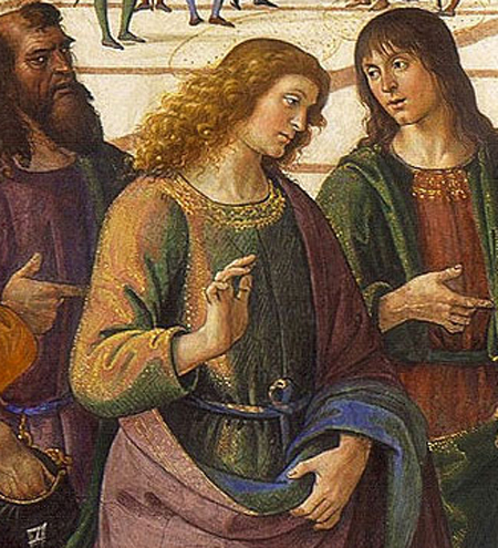 Delivery of the Keys (detail), Pietro Perugino