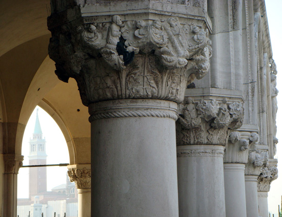 Capitals on the Palazzo Ducale